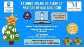 EL PRÓXIMO DOMINGO SE CELEBRA EL I TORNEO DE AJEDREZ ONLINE NAVIDAD DE MÁLAGA 2020