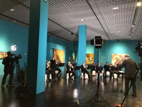 EL SÁBADO PODRÁ VERSE EN CANAL MÁLAGA EL CONCIERTO GRABADO EN LA COLECCIÓN DEL MUSEO RUSO DE LA BANDA MUNICIPAL EN UNA NUEVA EMISIÓN DEL CICLO MÚSICA EN LOS MUSEOS